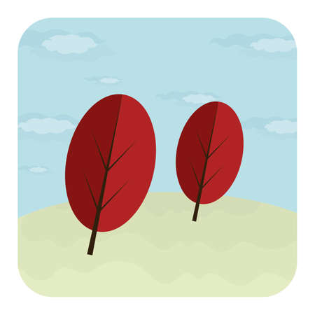 A pair of leaves Ilustrace
