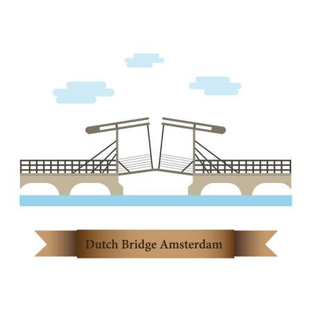 dutch bridge amsterdam Çizim