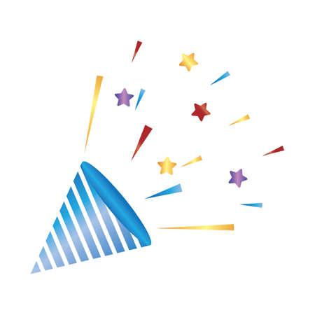 パーティー紙吹雪ポッパーズ  イラスト・ベクター素材