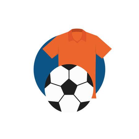 voetbal en jersey Stock Illustratie