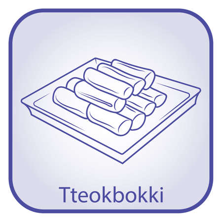 tteokbokki Stock Vector - 79142740