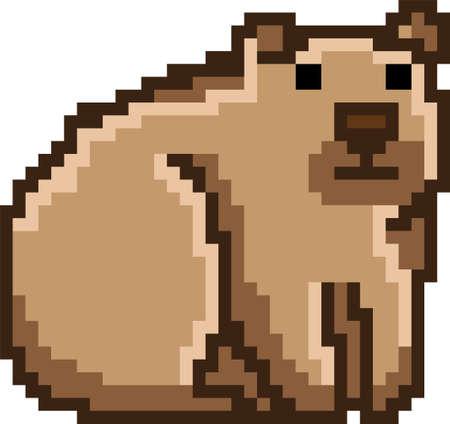 Pixel art bear