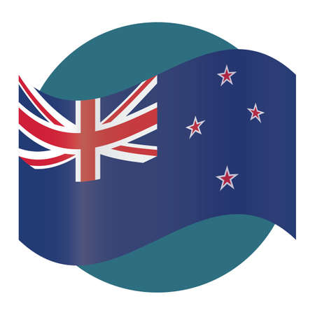 new zealand flag Stok Fotoğraf - 79188905