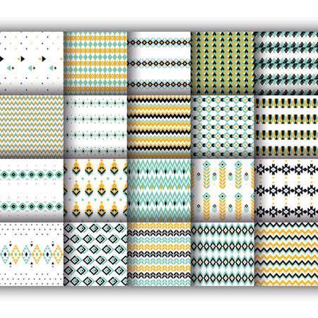 set of geometry pattern icons