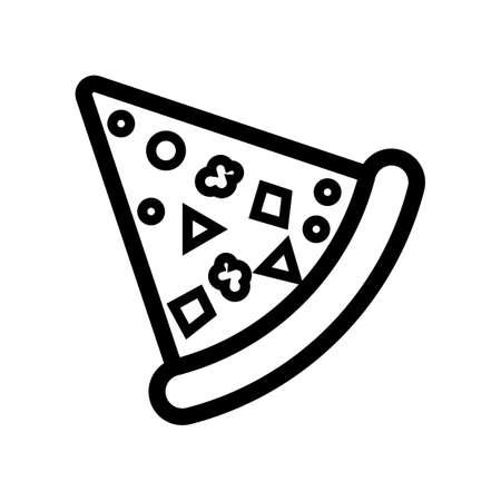 pizza slice Illusztráció