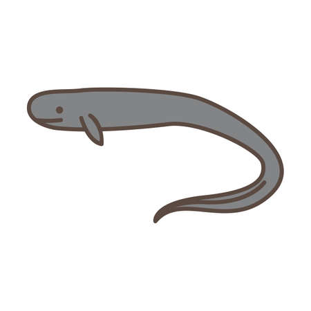 new zealand longfin eel Ilustrace