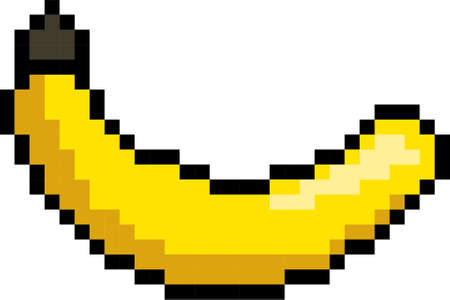 Pixel art banana Illustration