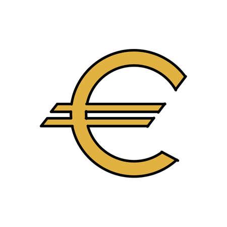 euro valutasymbool Stock Illustratie