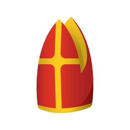 教皇の帽子  イラスト・ベクター素材