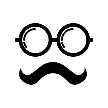 spectacles and mustache design
