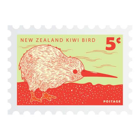 flightless: new zealand postage stamp design