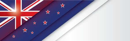 Nieuw Zeeland banner ontwerp Stock Illustratie
