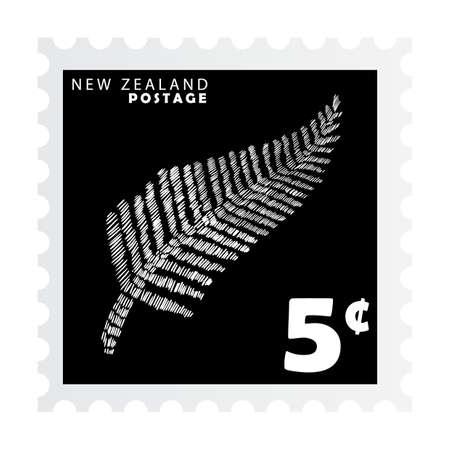 ニュージーランド切手デザイン  イラスト・ベクター素材