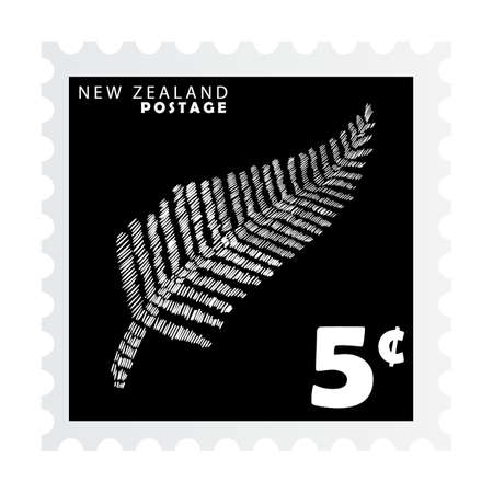 silver fern: new zealand postage stamp design