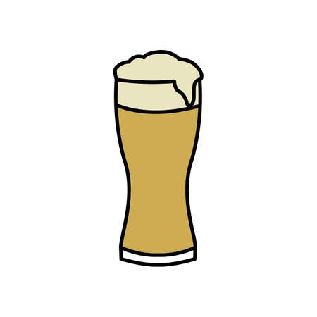 a glass of beer Illustration