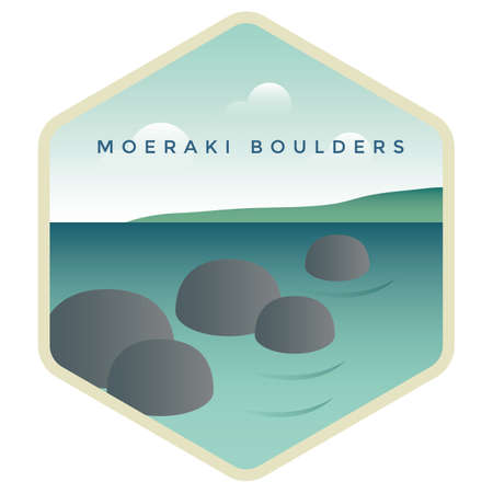 Moeraki keien Stock Illustratie