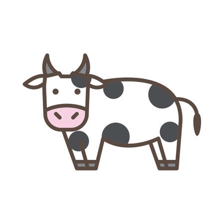 domesticated: cow