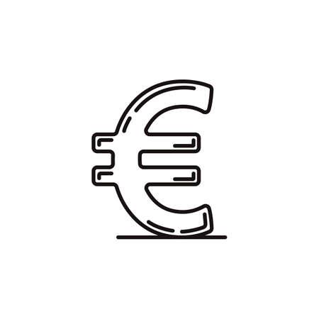 Euro-Währungssymbol Standard-Bild - 79216274