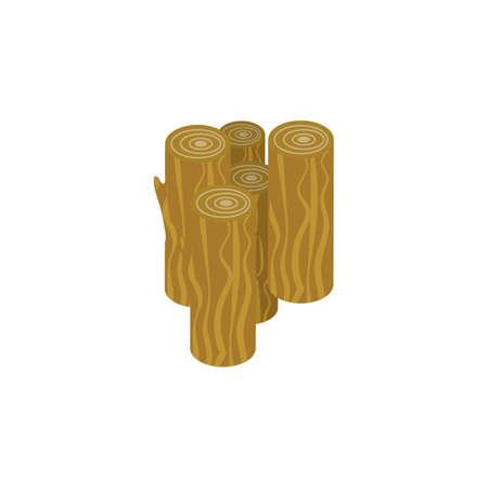 Wooden logs Ilustrace