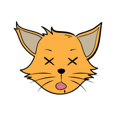 漫画猫が気絶しました。