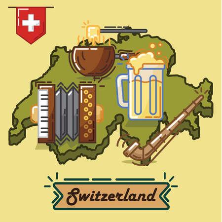 alphorn: switzerland traditional concept