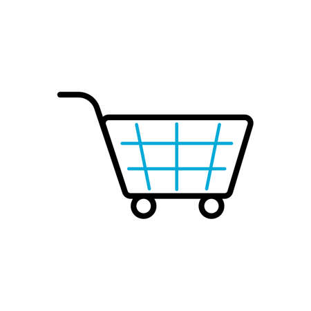e commerce icon: shopping cart symbol