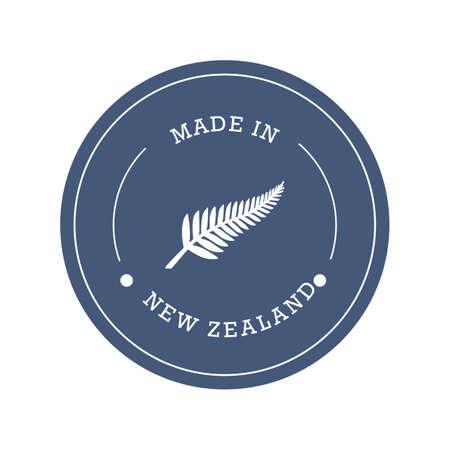 뉴질랜드 제품 라벨 디자인 일러스트