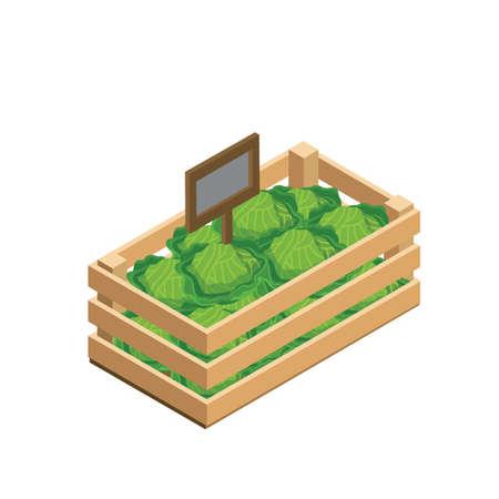 Légumes frais en caisse en bois Banque d'images - 79217063