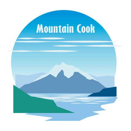 mountain cook 向量圖像