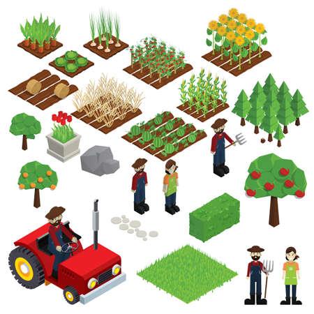 set of farm icons  イラスト・ベクター素材
