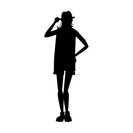 woman silhouette design