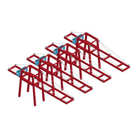 Isometrische poort containerkraan Stockfoto - 79166294