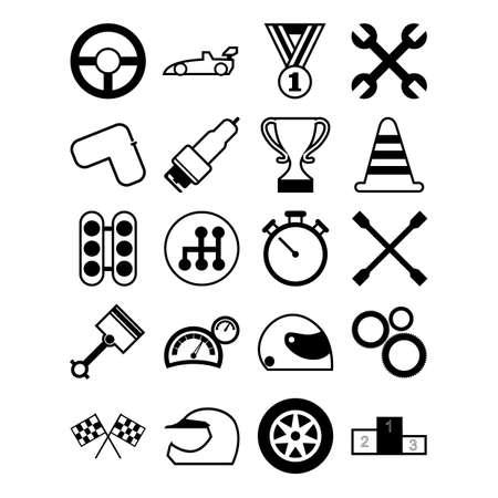 Set race pictogrammen