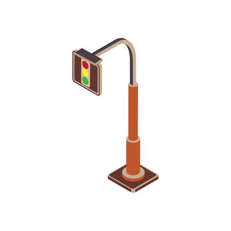 traffic pole: Traffic light