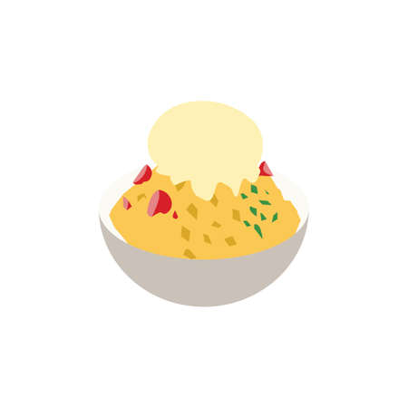 taiwanese shaved ice Illustration