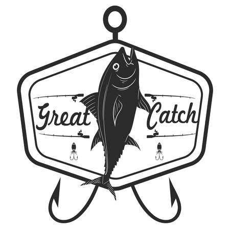 Great catch label Illustration