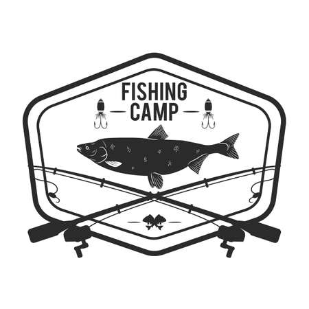 Fishing camp label