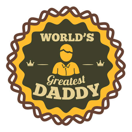 Worlds greatest daddy label Illustration