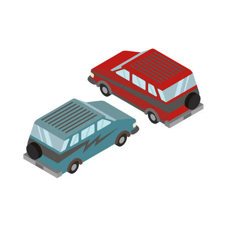 isometric cars Иллюстрация
