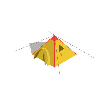 キャンプ テント  イラスト・ベクター素材