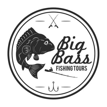 big bass fishing tours label
