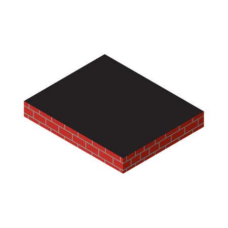 Brick concrete wall