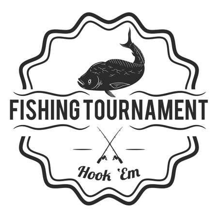Fishing tournament label Illustration