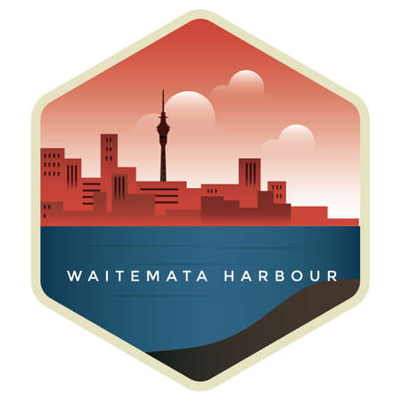 waitemata harbour Ilustrace