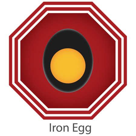 iron egg Ilustrace