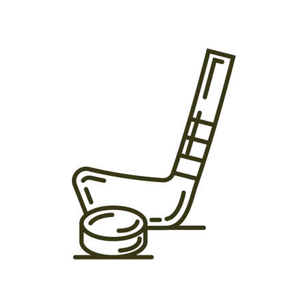 puck: Ice hockey stick and puck Illustration