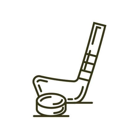 IJshockeystick en puck Stock Illustratie