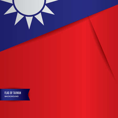 national identity: taiwan flag background design Illustration