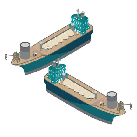 isometric lng carriers