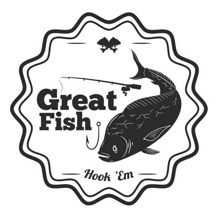 great fish label Иллюстрация